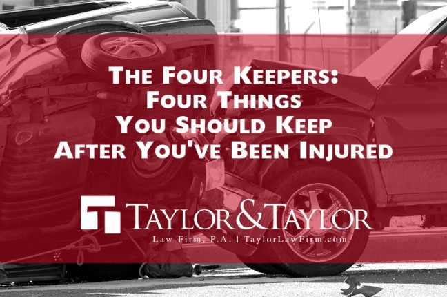 The Four Keepers: Four Things You Should Keep After You've Been Injured | Arkansas Personal Injury Attorneys
