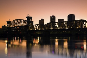 Sunset In Little Rock, Arkansas.